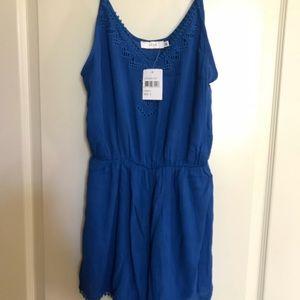 Lush romper royal blue-NWT-small- inseam 2.5 in.